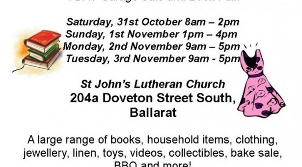 GARAGE SALE & BOOK FAIR AT ST. JOHN'S
