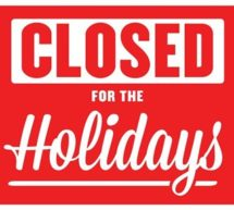 BOOKS & MORE CLOSED FOR HOLIDAYS